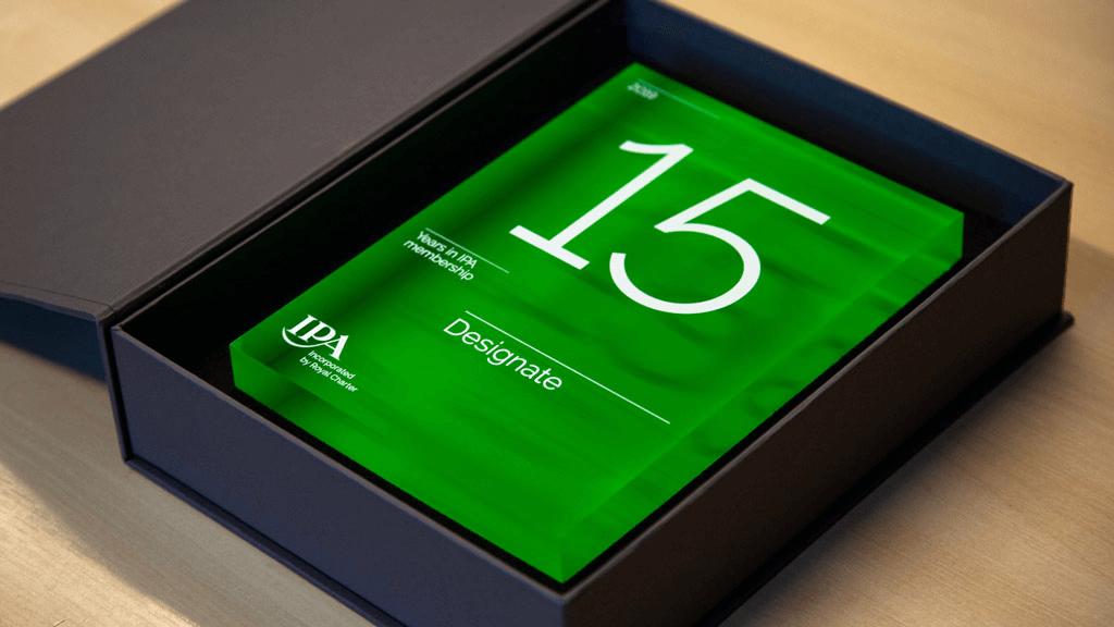 Designate 15 years membership of IPA